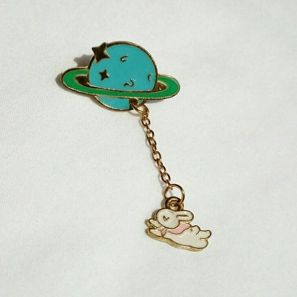 83f1fcfe5b0 Jewelry   Planet Rabbit Lapel Pin   Poshmark